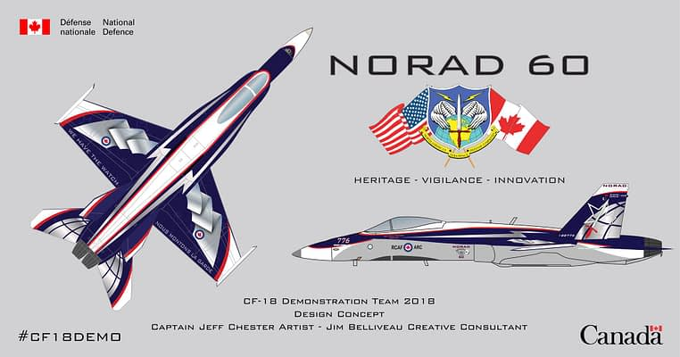 Stunning Paint Scheme For 2018 CF-18 Hornet Demonstration Jet Unveiled