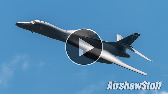WATCH:  B-1B Lancer Oshkosh Arrival And Flybys