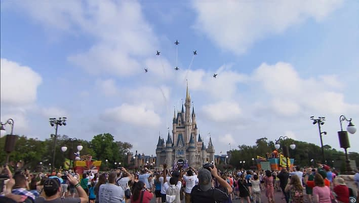 Blue Angels Bring Magic of Flight to Disney's Magic Kingdom