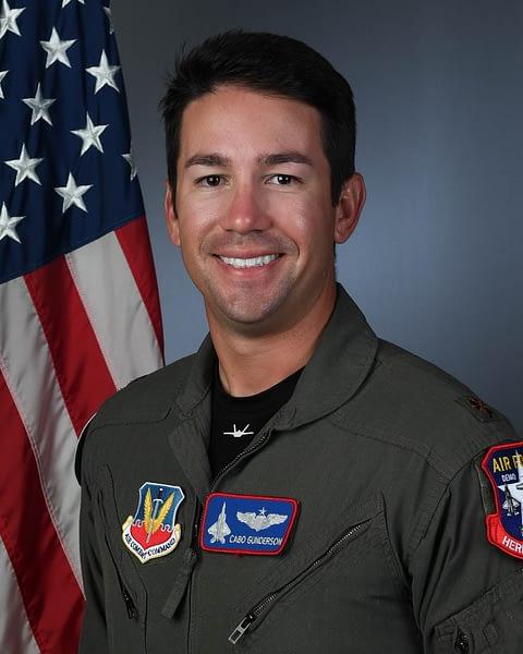 "Major Joshua ""Cabo"" Gunderson F-22 Demo Team Pilot"