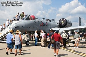 USAF A-10 Warthog On Static Display