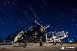 TBM Avengers at night