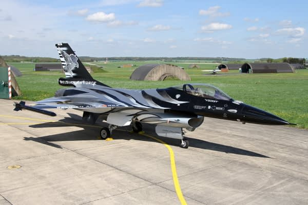 "Belgian Air Force Unveils STUNNING ""Dark Falcon"" F-16 Paint Scheme"