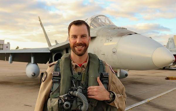 "2019 CF-18 Hornet Demonstration Pilot Capt. Brian ""Humza"" Kilroy. Photo Credit: DND"