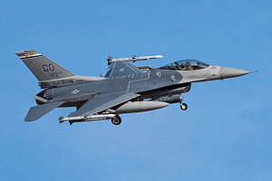 F-16C From the 140th wing returning to Nellis AFB