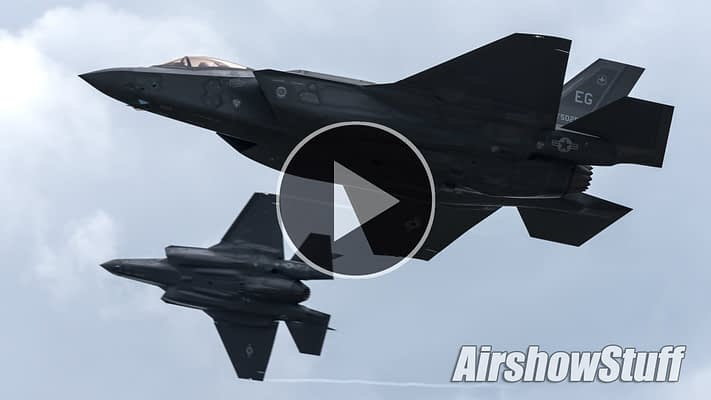 WATCH:  Lightning Strikes Oshkosh! F-35 Lightning II Arrival And Flybys