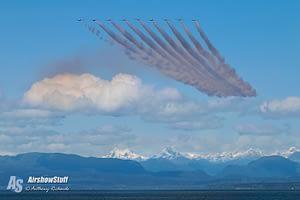Canadian Snowbirds Practice - Air Force Beach, BC