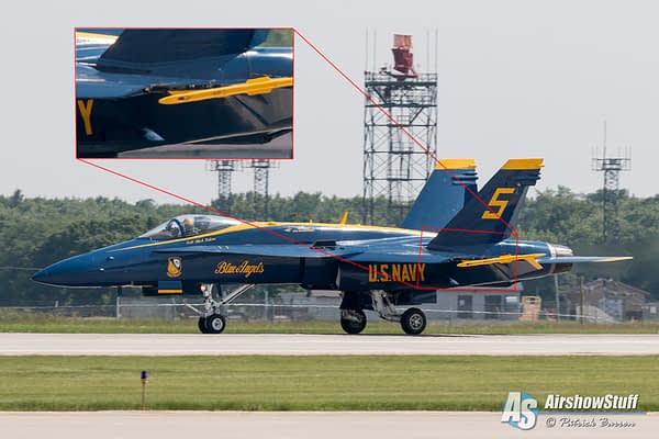 Blue Angel #5 - Missing Leading Edge Extension - Rockford Airfest 2015