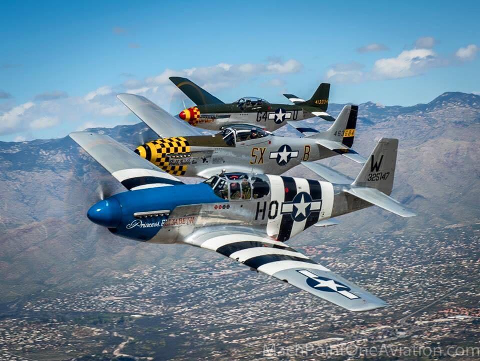 P-51 Mustangs Air to Air - USAF Heritage Flight