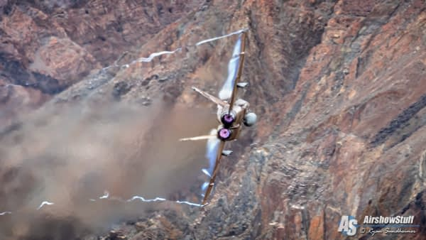 Aggressor F/A-18 Hornet in Star Wars Canyon - AirshowStuff