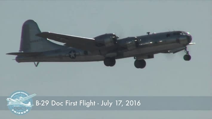 "B-29 Superfortress ""Doc"" Has Successful First Flight!"