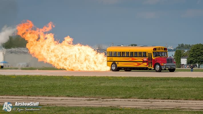 Behind The Scenes With The 300mph Jet-Powered School Bus