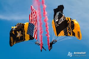 US Army Golden Knights - Lethbridge International Air Show 2017