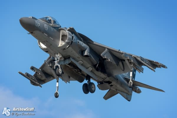 2019 USMC AV-8B Harrier Demonstrations Schedule Released