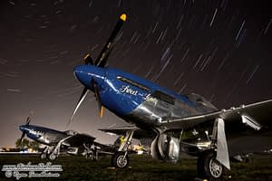 P-51 Mustang Star Trails