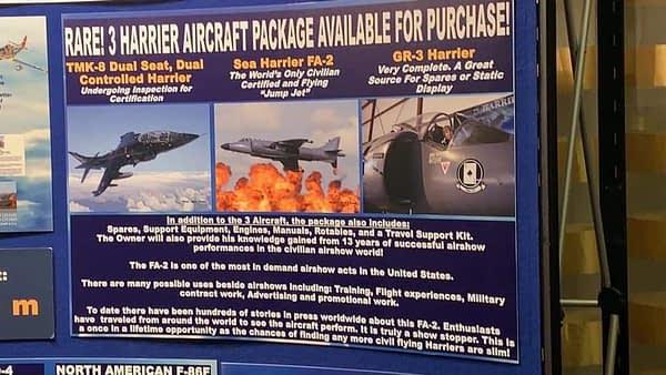 Sea Harriers For Sale at NWOC