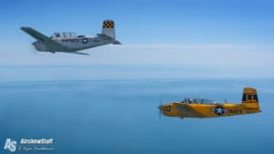 T-34 Mentors Air to Air - Manitowoc, WI