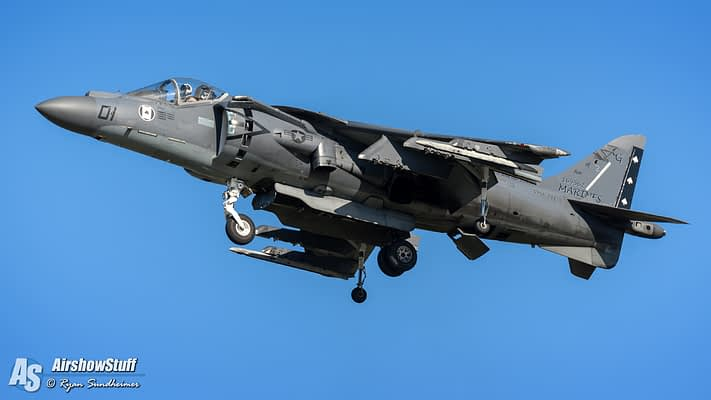 US Marine Corps AV-8B Harrier 2017 Demonstration Schedule Released
