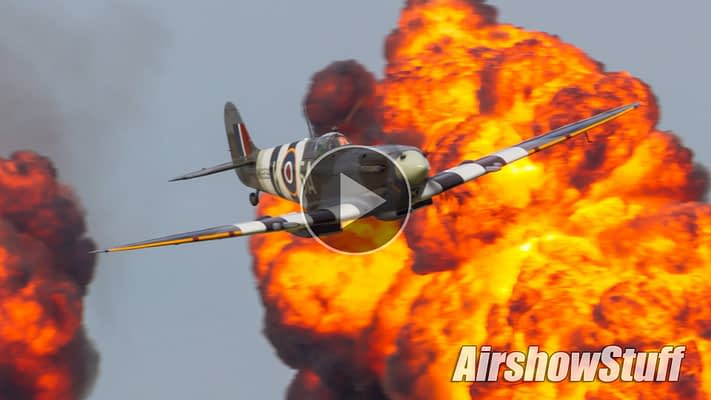 WATCH:  Legendary Warbirds Strafe, Bomb, And Wow – With Pyro!