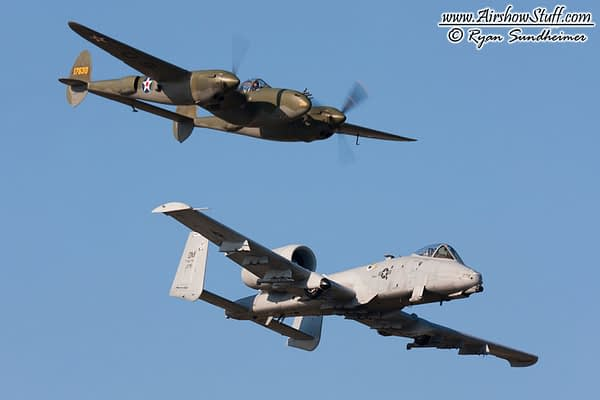USAF Heritage Flight - P-38 Lightning and A-10 Thunderbolt II - AirshowStuff