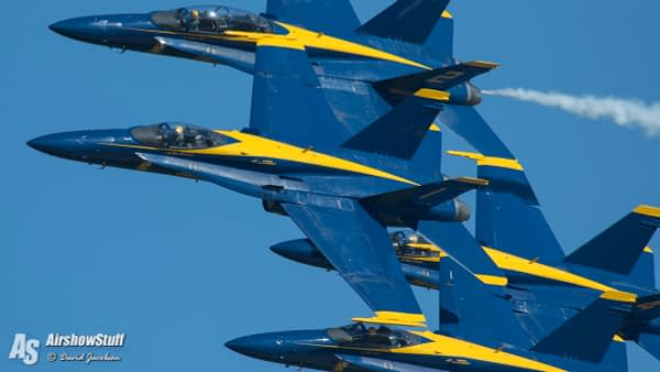 Blue Angels Fly at Oshkosh for the First Time