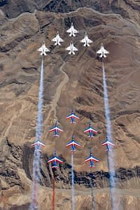 Patrouille de France and Thunderbirds Fly Together