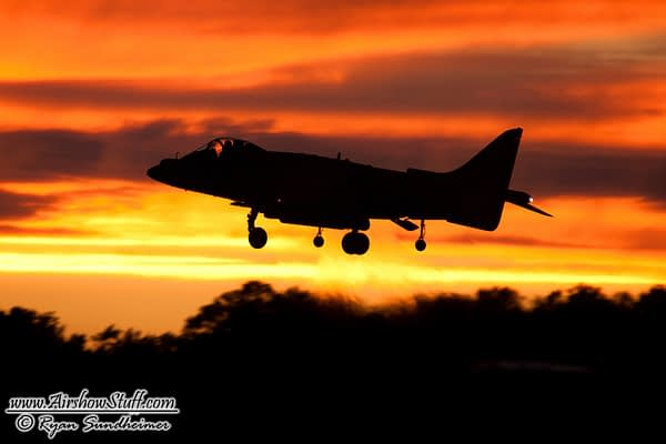 USMC Harrier Twilight Airshow - NAS Oceana