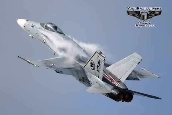 F/A-18C Hornet Demonstration In VFA-15 Commemorative Paint Scheme