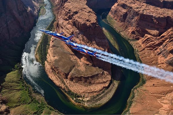 Patrouille de France Fly Over Horseshoe Bend
