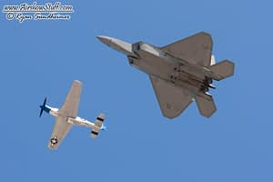 F-22 Raptor and P-51 Mustang - USAF Heritage Flight