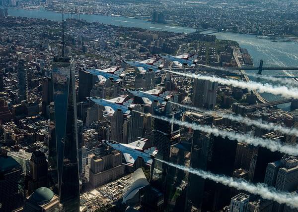 USAF Thunderbirds Flyover New York City