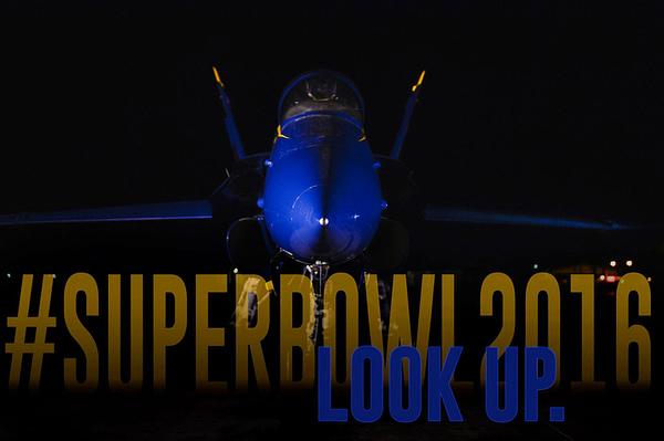 US Navy Blue Angels Super Bowl 50 Flyover
