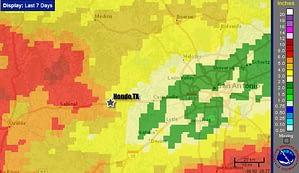 Rainfall Data For Wings Over Hondo