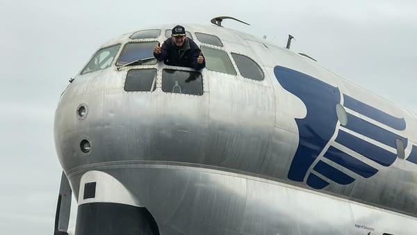 "C-97 Stratofreighter ""Angel of Deliverance"" First Flight"