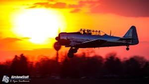 T-6 Texan at sunset