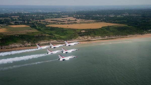 USAF Thunderbirds Over France - Normandy Beach