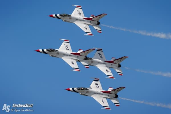 USAF Thunderbirds 2020 Preliminary Airshow Schedule Released