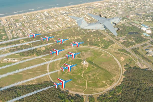 Patrouille de France Over Kittyhawk/Wright Brothers Monument