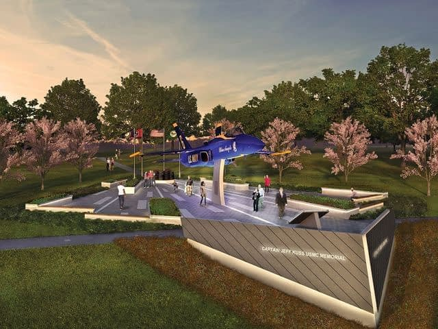Memorial To Honor Blue Angel Pilot Nears Completion, Public Dedication