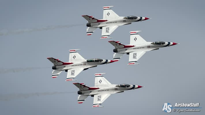 USAF Thunderbirds Preliminary 2021 Airshow Schedule Released