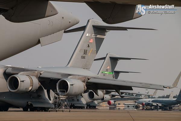 C-17 Globemaster IIIs Joint Base Lewis-McChord Exercise Mobility Guardian 2017