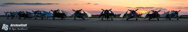 TBM Avengers at sunset