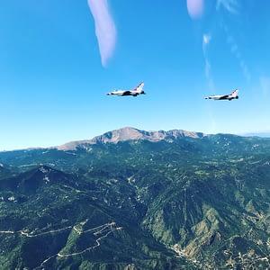 Thunderbirds Arrival into the Colorado Springs Area