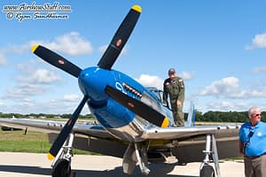 "Vlado Lenoch and his P-51 Mustang ""Moonbeam McSwine"""