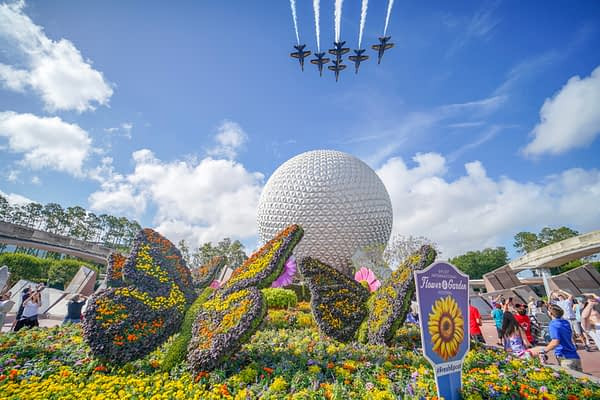 US Navy Blue Angels Over Disney's Epcot