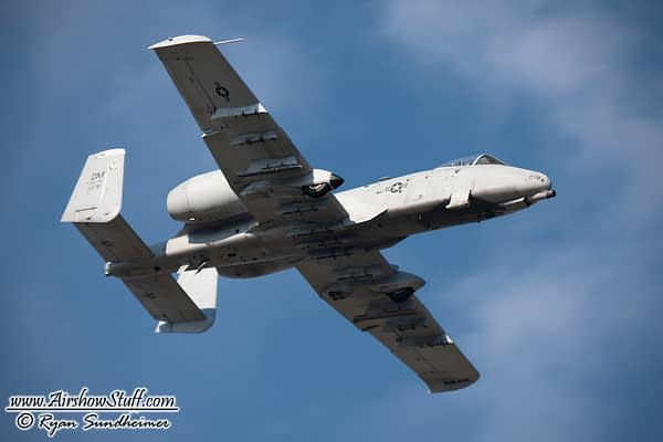 USAF A-10 Thunderbolt II Demonstration Team 2019 Airshow Schedule Released