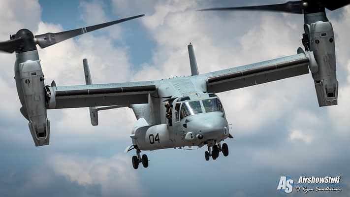 2019 USMC MV-22 Osprey Demonstrations Schedule Released