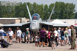 US Navy F/A-18F Super Hornet Static Display