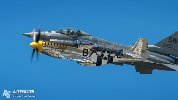 P-51 Mustang and F-16 Fighting Falcon Heritage Flight - AirshowStuff