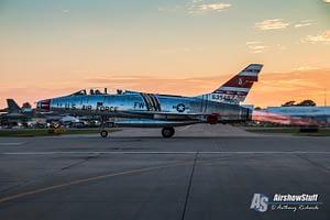 F-100 Super Sabre Air Force Warbird Jet AirVenture Oshkosh